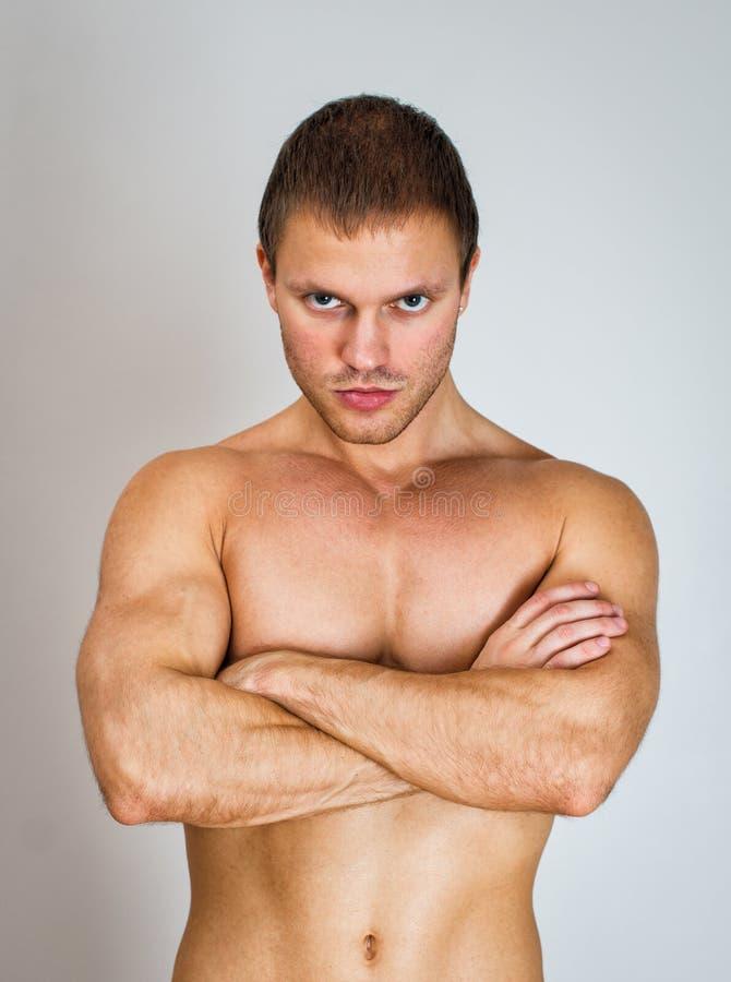 Modelo masculino muscular imagens de stock royalty free