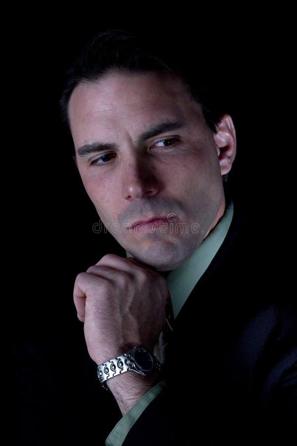 Modelo masculino na roupa do negócio imagens de stock royalty free
