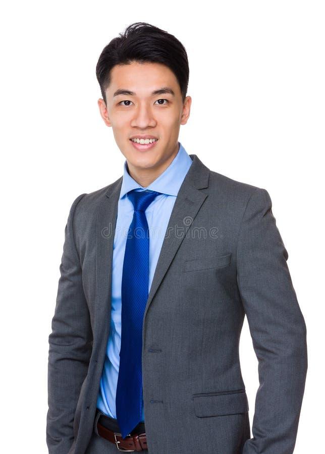 Modelo masculino no terno de negócio imagem de stock royalty free