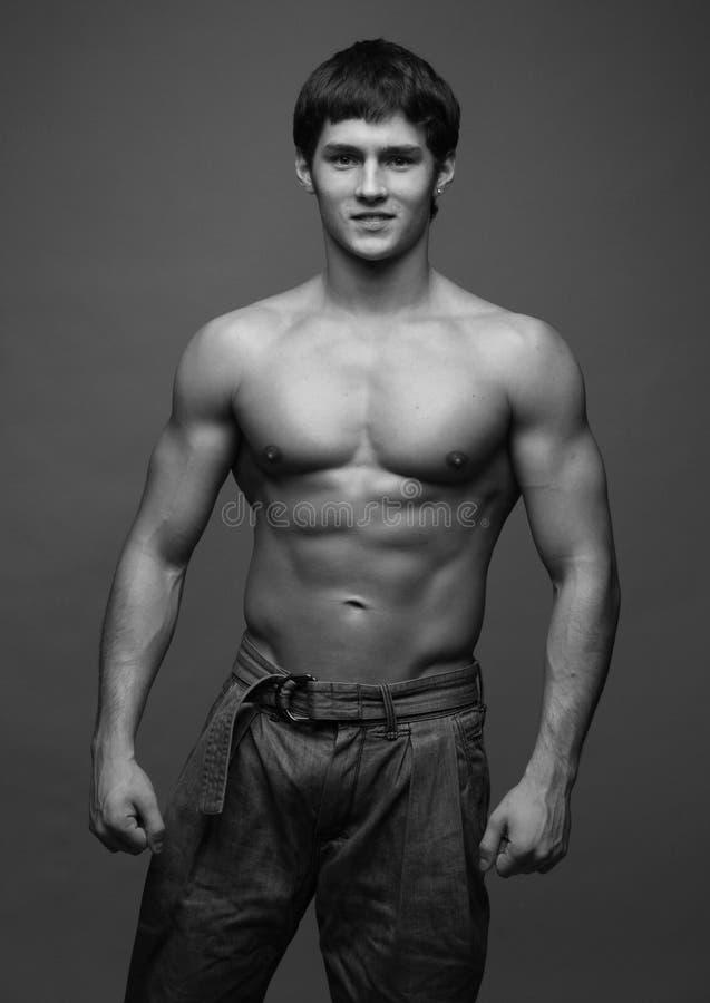 Modelo masculino novo foto de stock