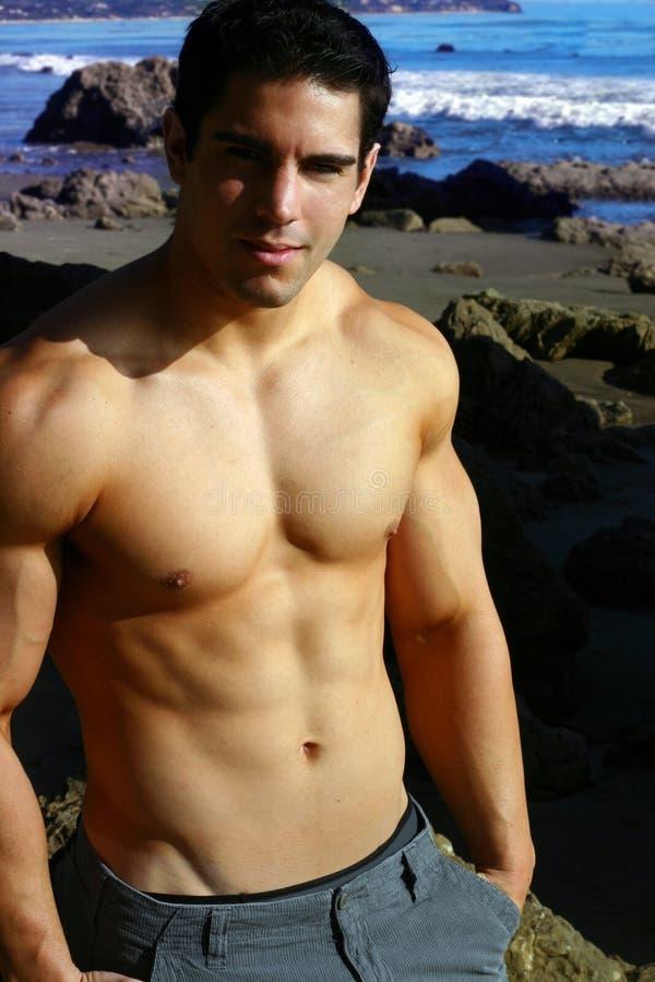 Modelo masculino novo da aptidão fotos de stock royalty free