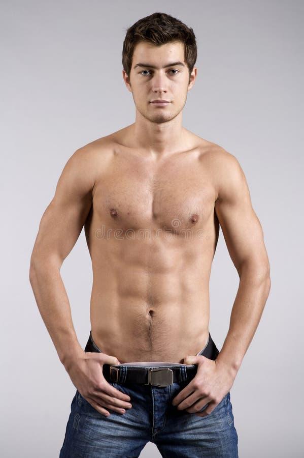 Modelo masculino novo do roupa interior fotos de stock
