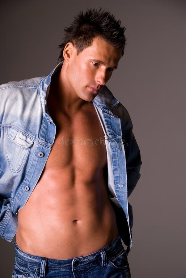 Modelo masculino 'sexy'. fotos de stock