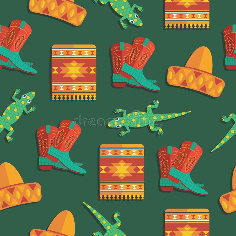 Modelo mexicano ilustración del vector