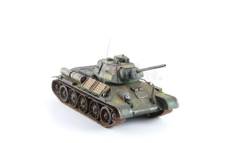 Modelo militar del tanque del verde caqui fotos de archivo