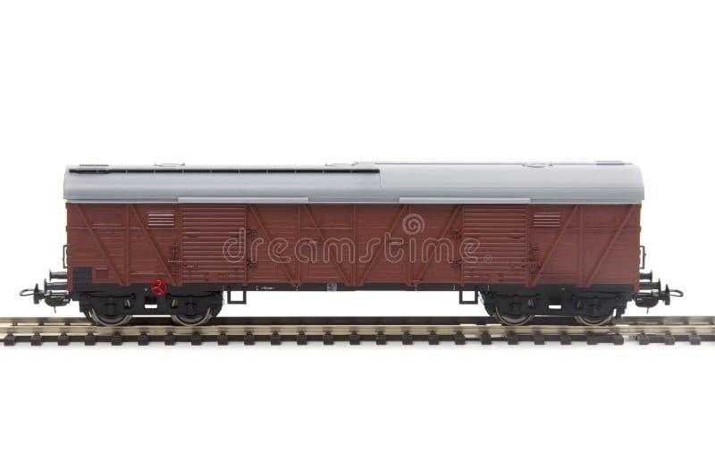 Modelo miniatura de un carro del tren fotos de archivo libres de regalías