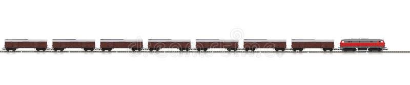 Modelo miniatura del tren de carga imágenes de archivo libres de regalías