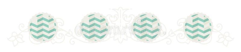 Modelo modelado verde elegante Ornamento do vetor em um estilo liso Elementos decorativos para o local e a cópia na tela ilustração do vetor