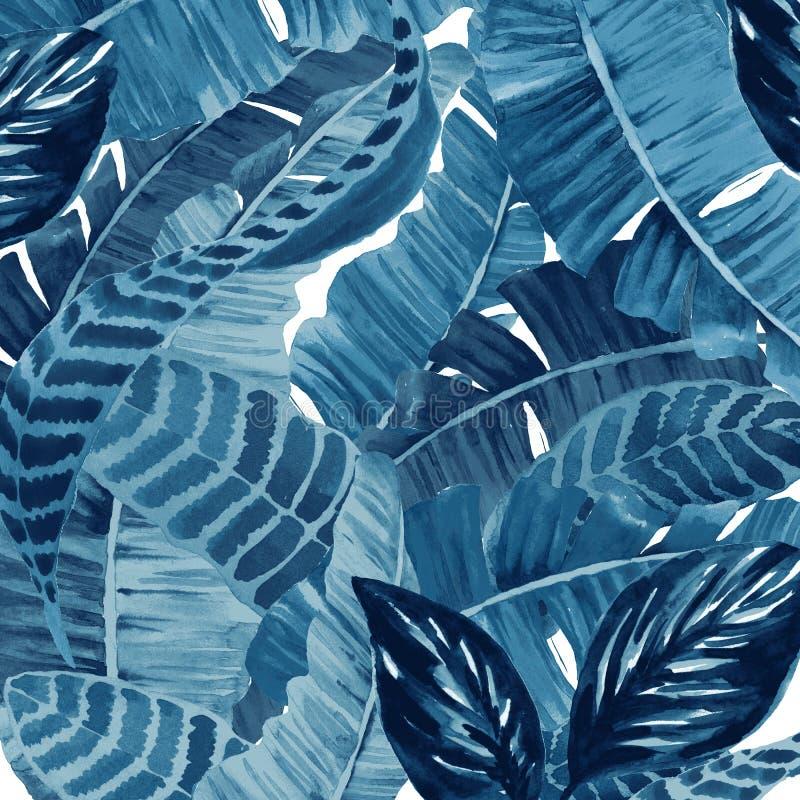 Modelo moderno de la repetición de la textura del batik del teñido anudado ilustración del vector