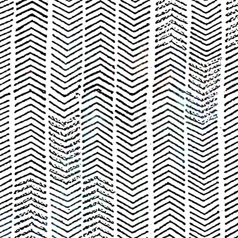 Modelo moderno de la repetición de la textura del batik del teñido anudado libre illustration