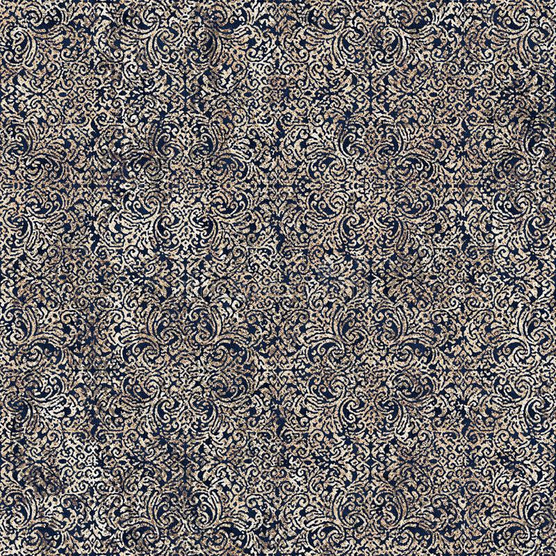 Modelo moderno de la repetición de la textura del teñido anudado del damasco del batik stock de ilustración