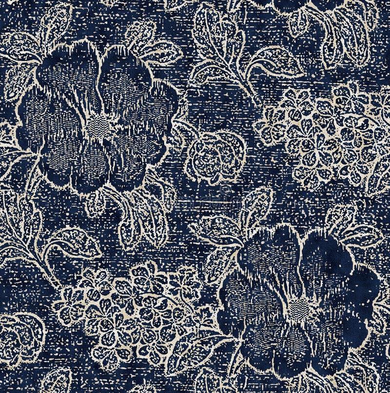 Modelo moderno de la textura floral ilustración del vector