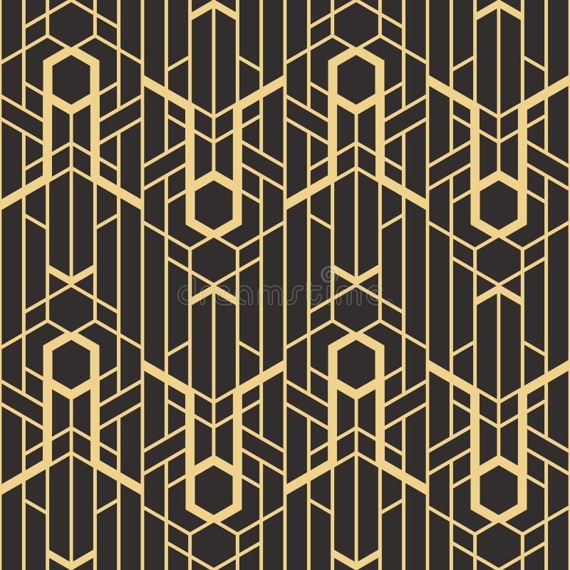 Modelo moderno de las tejas del vector abstracto del art déco ilustración del vector