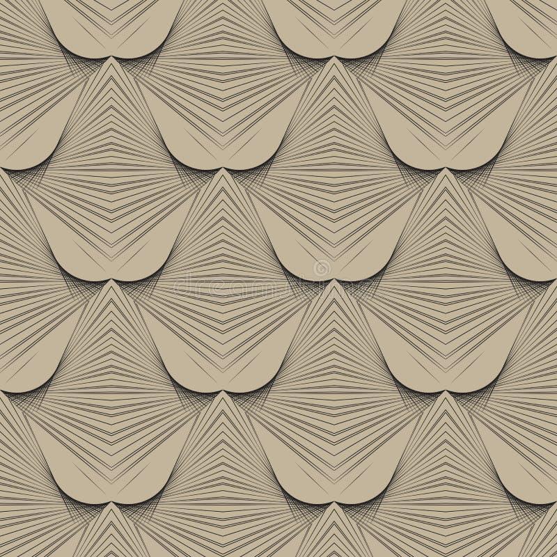 modelo moderno del art déco geométrico de los años 30 stock de ilustración