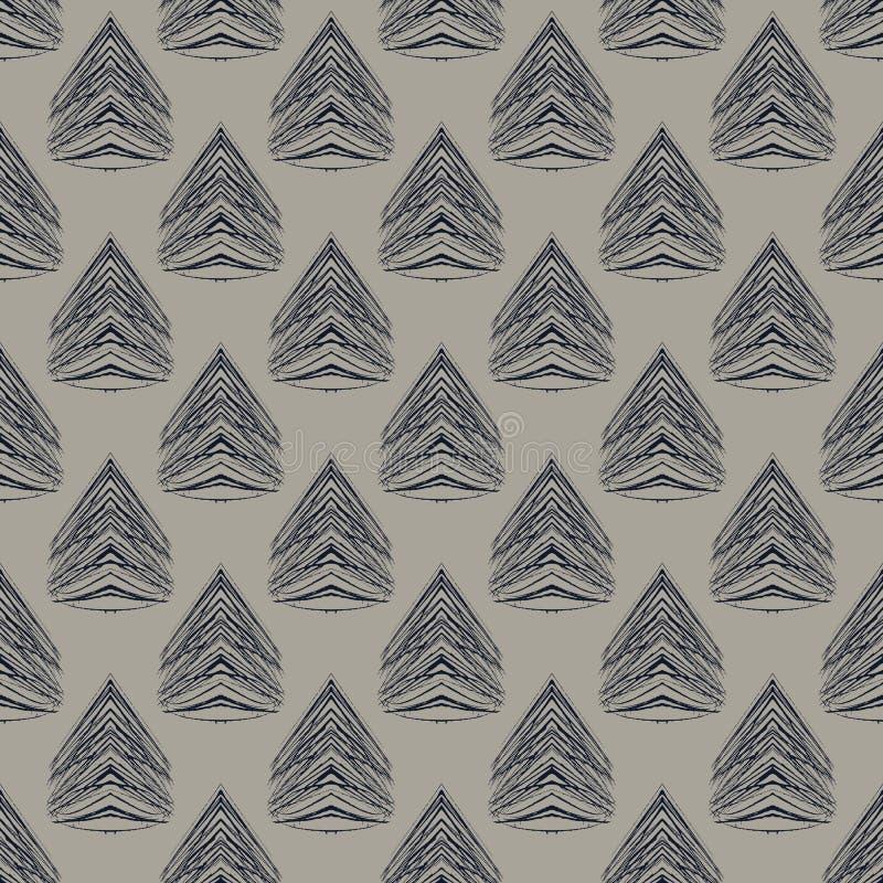 modelo moderno del art déco geométrico de los años 30 ilustración del vector