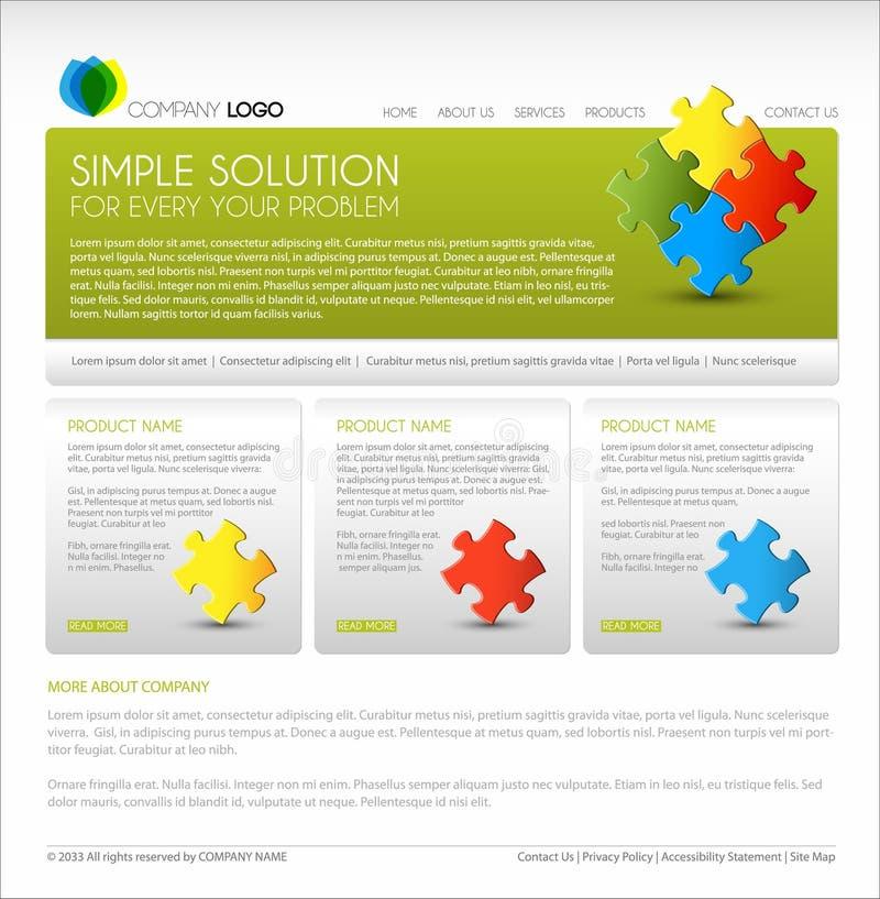 Modelo moderno del Web page del vector libre illustration