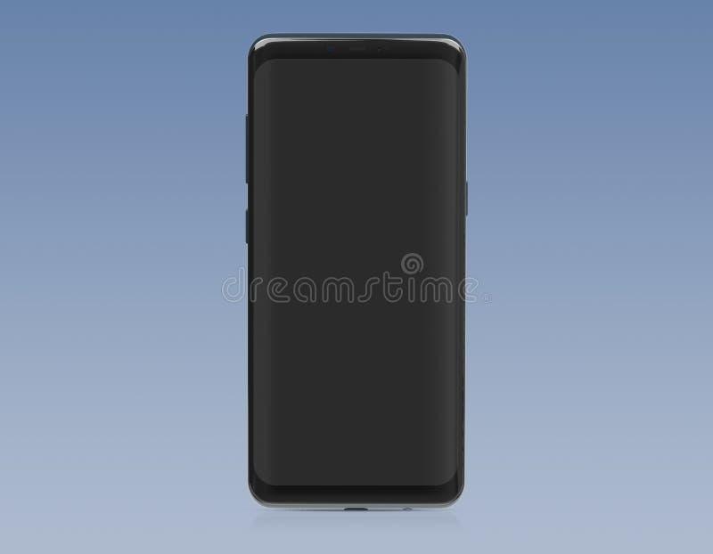 Modelo moderno do smartphone isolado na rendi??o 3d branca ilustração do vetor