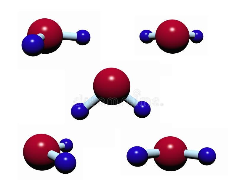 Modelo molecular de H2O - plástico ilustración del vector