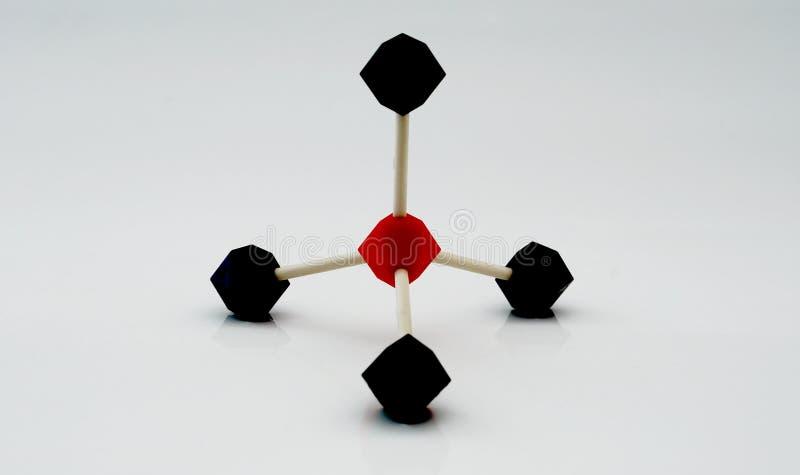 Modelo molecular de la dimensión de una variable de la pirámide imagen de archivo