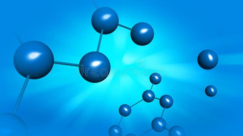 Modelo molecular, do ADN e do átomo ilustração royalty free