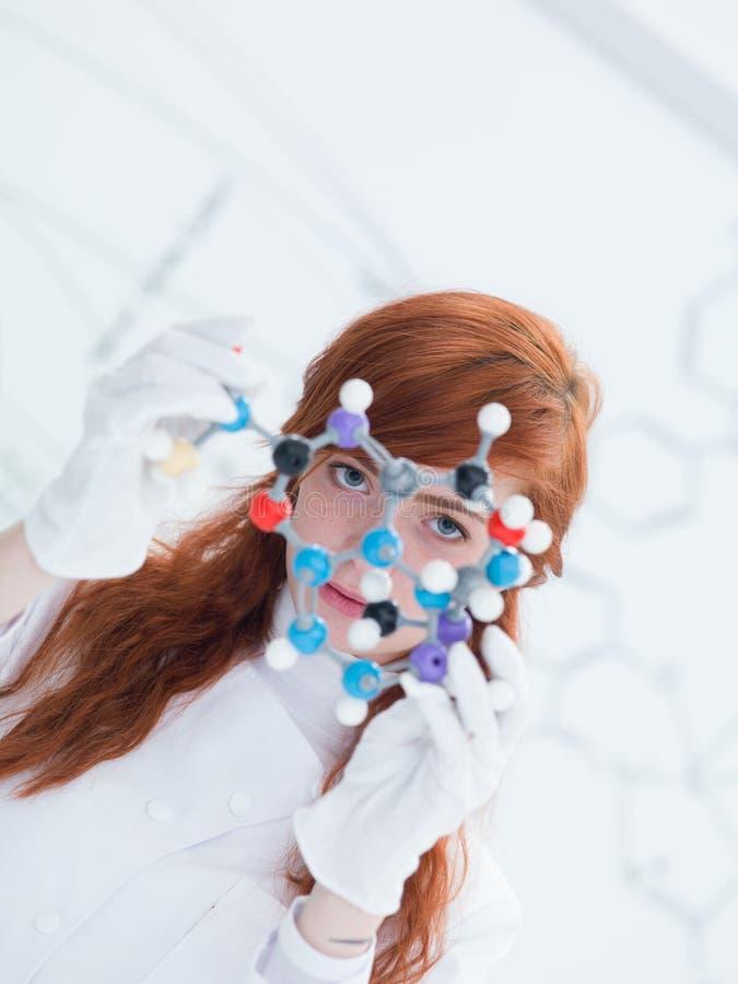 Modelo molecular do Dmt foto de stock