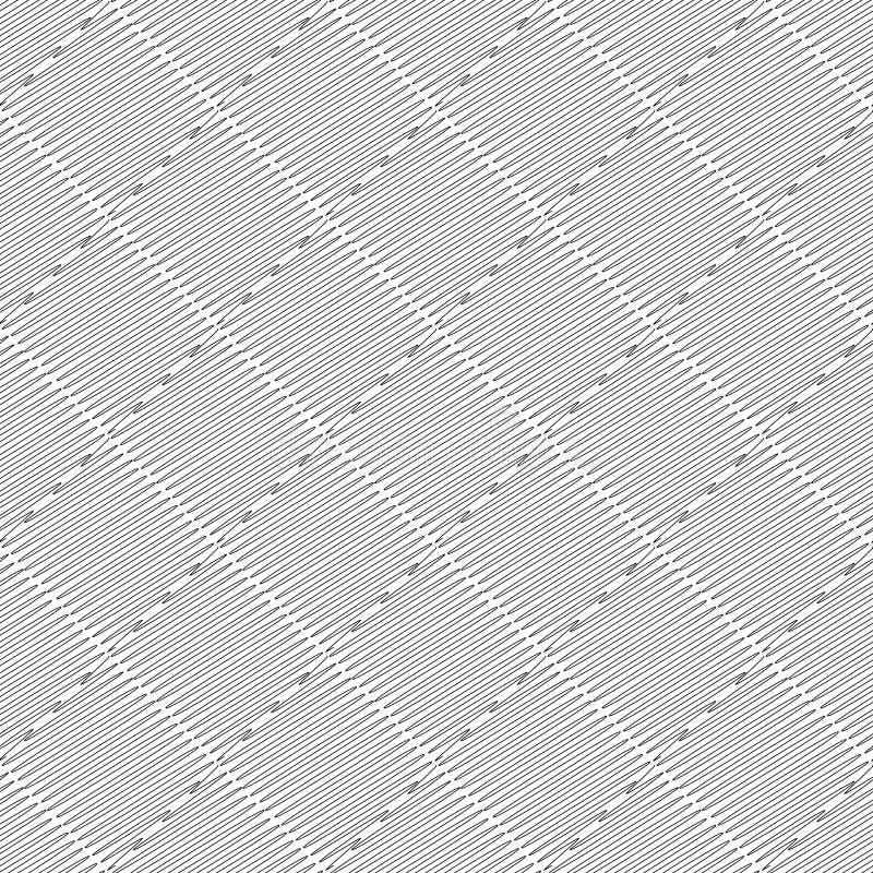 Modelo monocromático inconsútil del garabato del diseño. Texto abstracto del diamante ilustración del vector