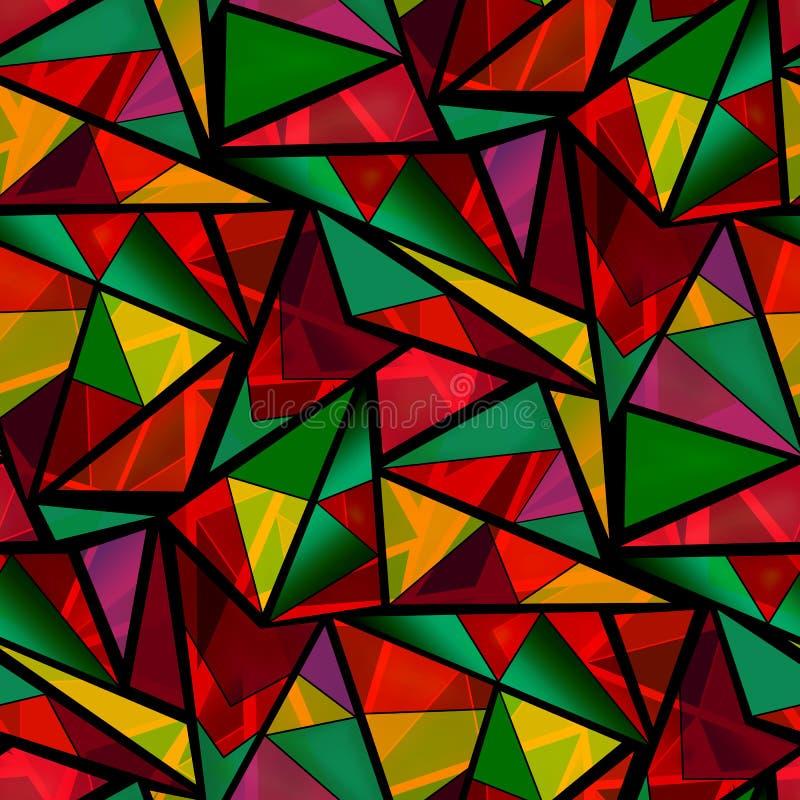 Modelo multicolor brillante de los triángulos inconsútiles libre illustration