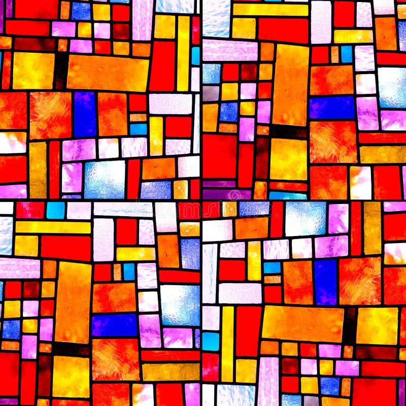 Modelo multicolor cuadrado al azar imagen de archivo libre de regalías