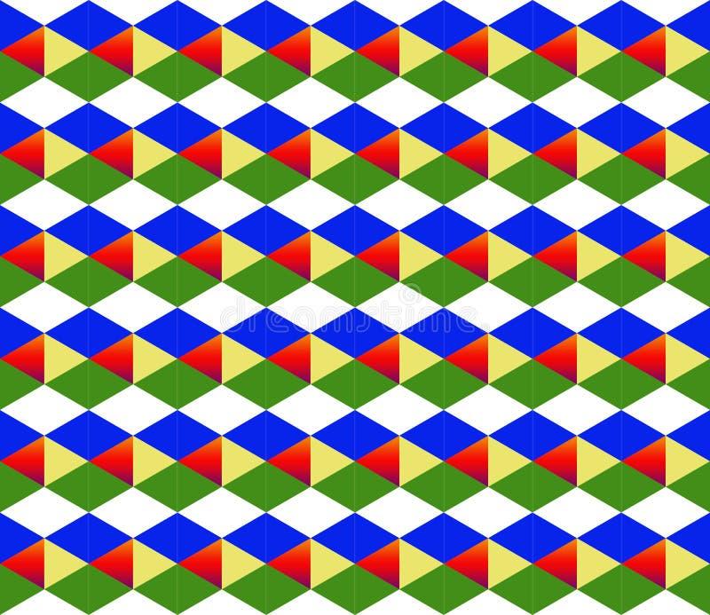 Modelo multicolor del fondo brillante geométrico del diamante, modelo simétrico con las figuras secuenciales libre illustration