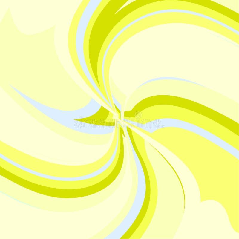 Modelo multicolor geométrico abstracto Líneas dinámicas suaves espiral fractal Ilustración del vector libre illustration