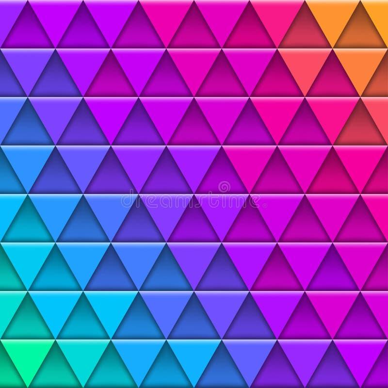 Modelo multicolor geométrico integrado por elementos triangulares ilustración del vector
