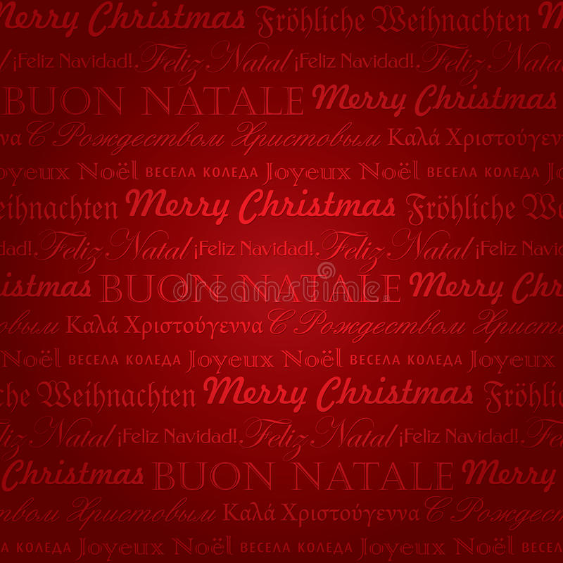 Modelo multilingüe inconsútil de la Navidad () stock de ilustración