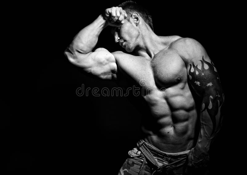 Modelo Muscled imagens de stock royalty free