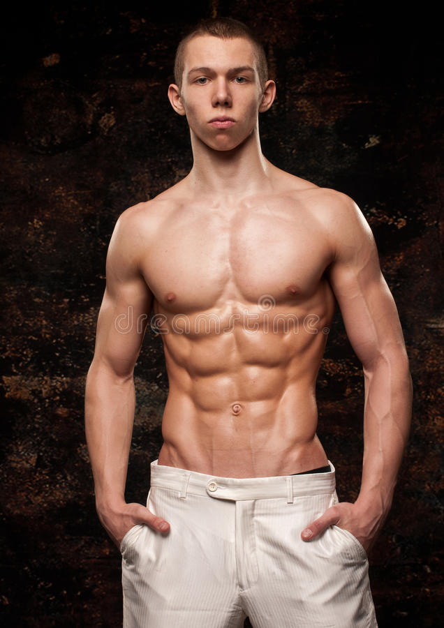 Modelo muscular fotografia de stock