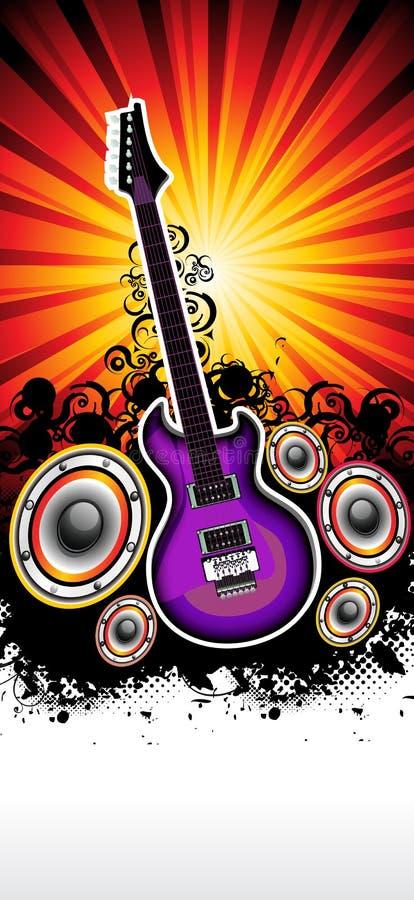 Modelo musical abstracto del concierto de la banda de rock de la guitarra libre illustration