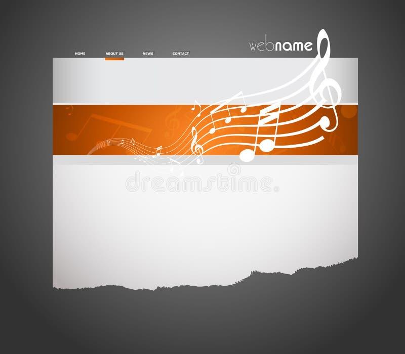 Modelo musical del Web site. ilustración del vector