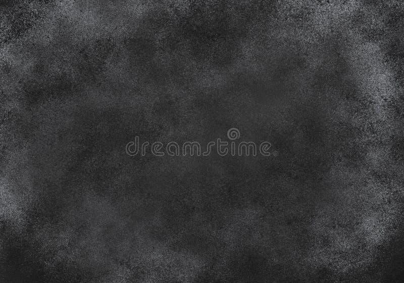 Modelo Negro-blanco del Grunge abstracto Efecto caótico de las partículas Fondo monocromático imágenes de archivo libres de regalías