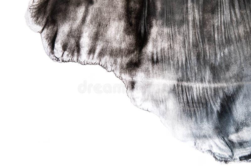 Modelo negro de la pincelada de la acuarela aislado en el fondo blanco imagen de archivo