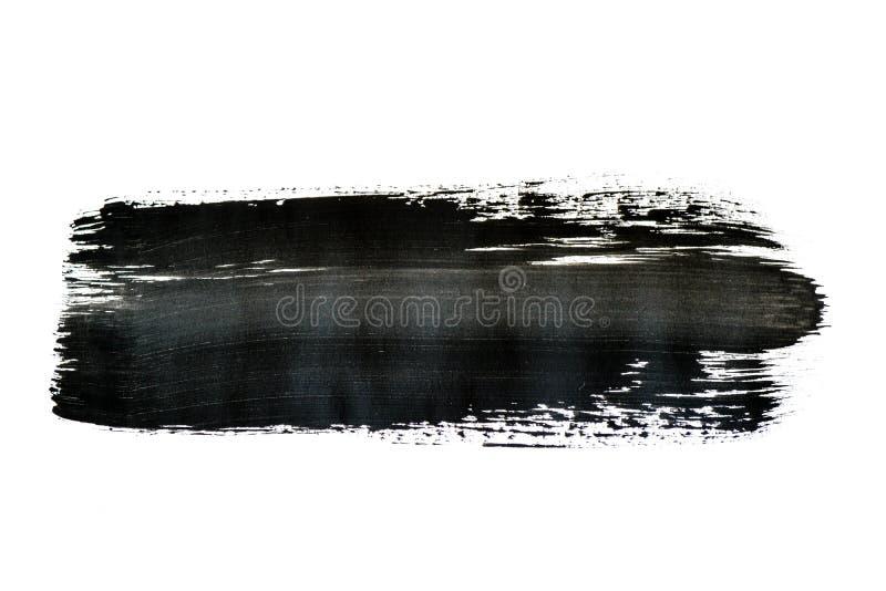 Modelo negro de la pincelada de la acuarela aislado en el fondo blanco foto de archivo libre de regalías