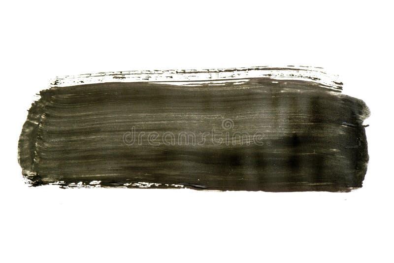 Modelo negro de la pincelada de la acuarela aislado en el fondo blanco fotografía de archivo