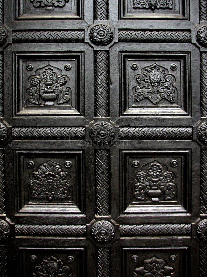 Modelo negro de la puerta de la casa foto de archivo