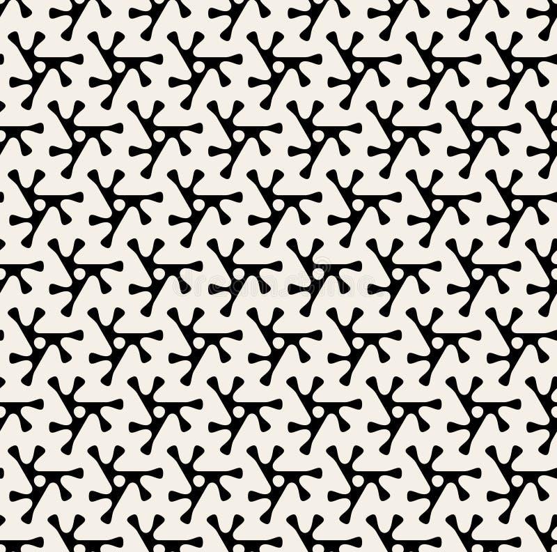 Modelo negro del vector y blanco redondeado inconsútil de la forma del triángulo stock de ilustración