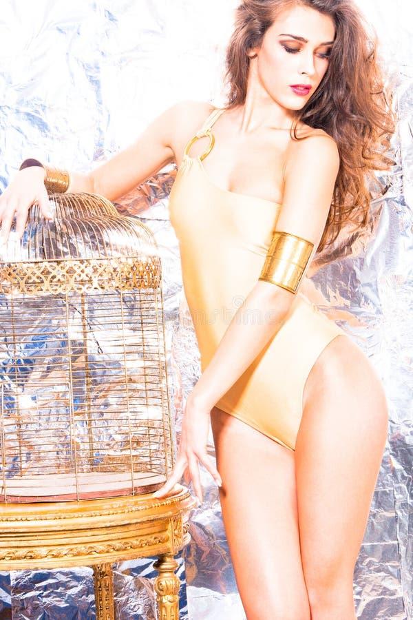 Download Modelo no swimwear foto de stock. Imagem de carrinho - 23593636