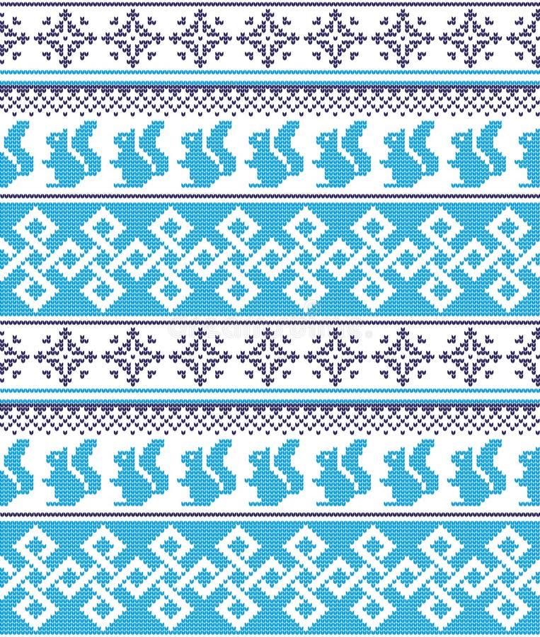 Modelo noruego festivo inconsútil del pixel del invierno del Año Nuevo de la Navidad - estilo escandinavo ilustración del vector