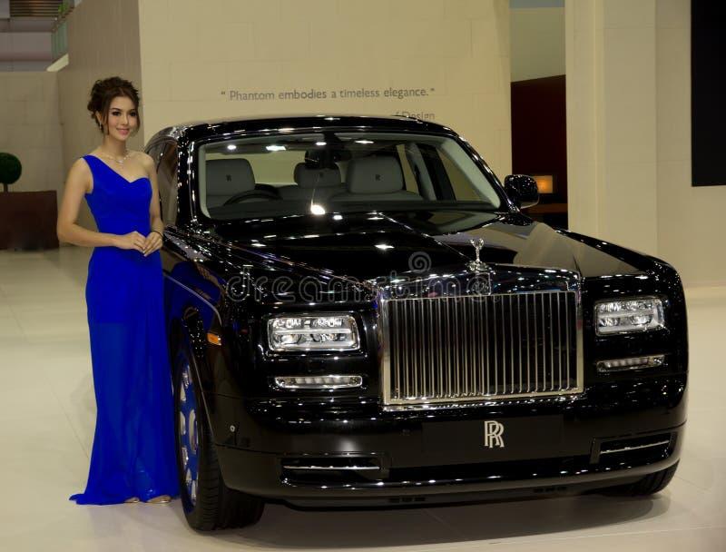 Modelo nuevo de Rolls Royce presentado en salón del automóvil imagenes de archivo