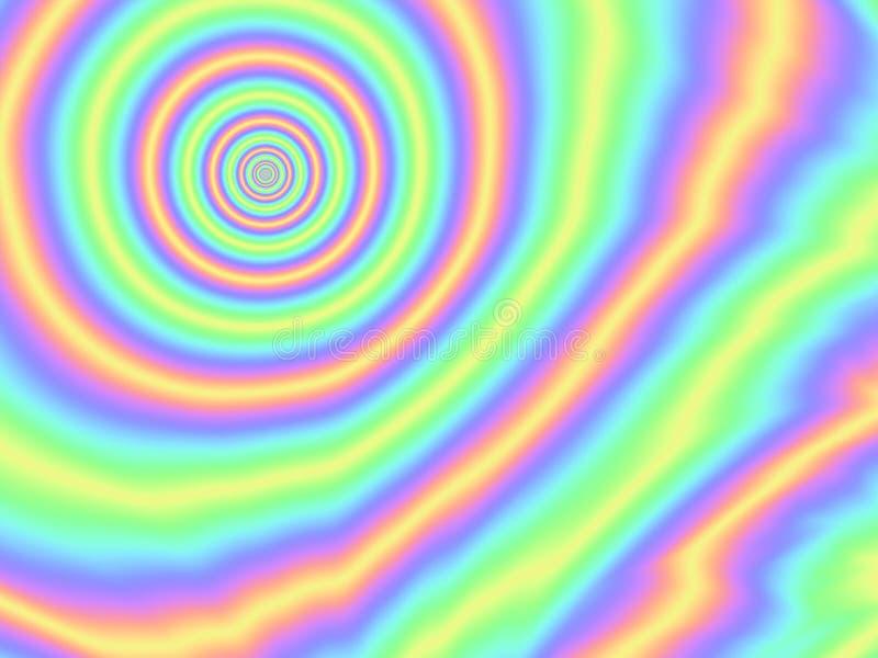 Modelo olográfico del círculo del arco iris del fondo de la hoja ilustración del vector
