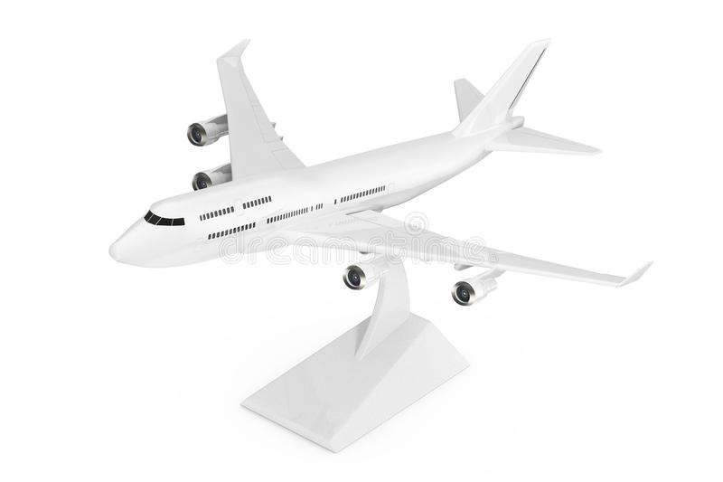 Modelo ommercial del aeroplano de Jet Passenger del ¡blanco del ` s Ð representación 3d ilustración del vector