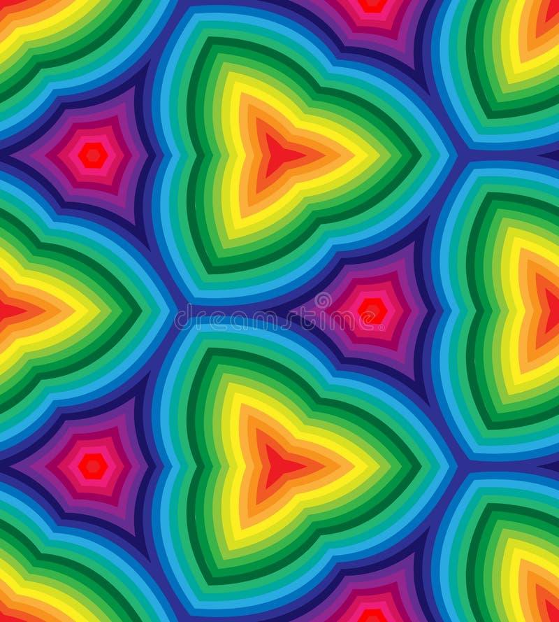 Modelo ondulado coloreado arco iris inconsútil de las rayas Fondo abstracto geométrico Conveniente para la materia textil, el emp stock de ilustración