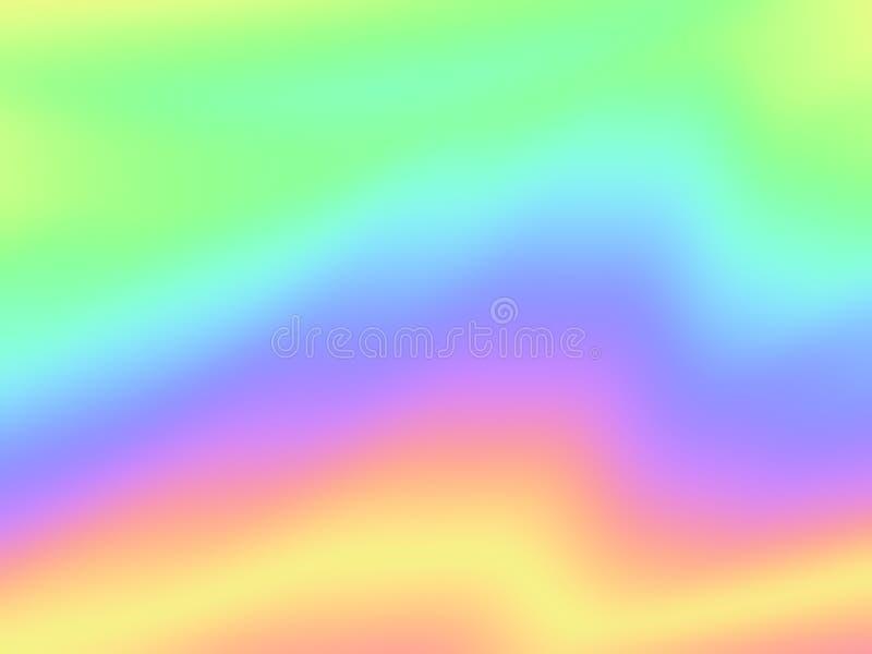 Modelo ondulado de la hoja del arco iris olográfico del fondo libre illustration