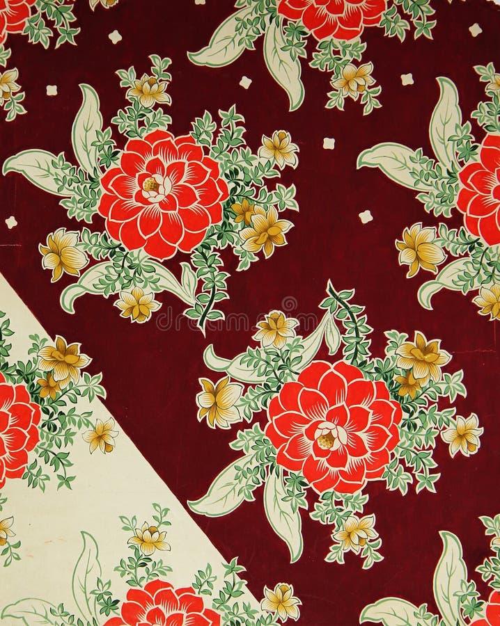 Modelo original de la materia textil de dalias en un estilo moderno Aguazo pintado a mano del vintage del bosquejo stock de ilustración